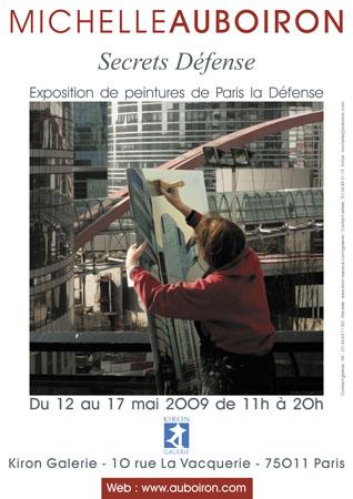 affiche-exposition-secrets-defense-peintures-tableaux-toile-michelle-auboiron-photos-charles-guy