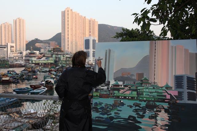 michelle-auboiron-peinture-live-aberdeen-hong-kong