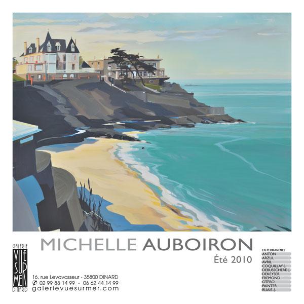 """Exposition Michelle AUBOIRON à la galerie """"Vue sur Mer"""" à Dinard pendant tous l'été 2010"""