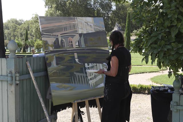 Peinture in situ à l'Orangerie du Chateau de Versailles par Michelle AUBOIRON