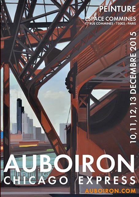 """Exposition """"Chicago Express"""" - Peintures de Chicago de Michelle AUBOIRON - du 10 au 13 décembre 2015 - Espace Commines - Paris"""